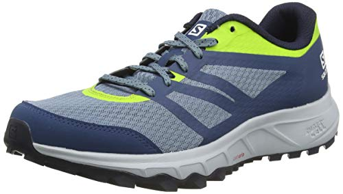 Salomon Trailster 2, Trail Running Shoes Hombre, Azul (Bluestone/Poseidon/Acid Lime), 44 2/3 EU