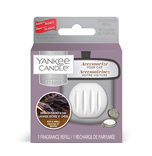 Yankee Candle Charming Scents Ricariche per Profumatori per Auto, Lavanda Essiccata e Quercia, Farmers' Market Collection