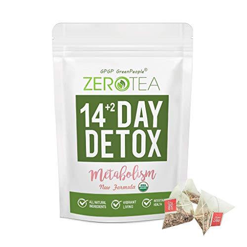 Zero Tea Detox Tea, 14+2 Day Weight Loss Tea for Women&Men, Diet Herbal Tea for Colon Cleanse, GPGP GREENPEOPLE Skinny fit Tea for Slimming (14+2 Tea Bags) 1