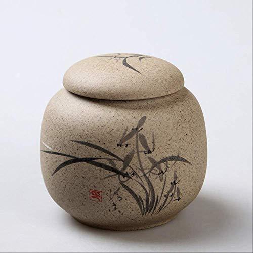 HMJ Cremazione Ceramica Ceramica Pentola Sabbia Viola Pentola Urna Cremazione 8.3x8cm