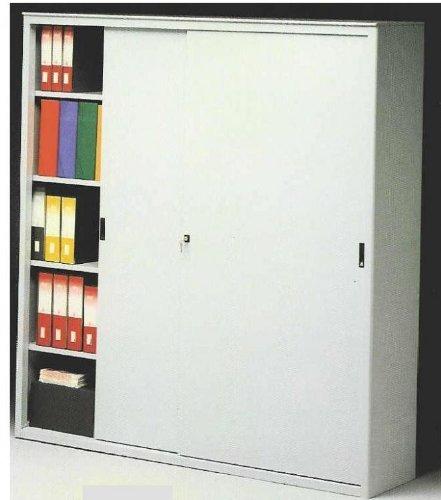 Ideapiu ARMADI Metallici per Ufficio Armadio Metallico Porte SCORREVOLI CM. 120 LUNGH. X 45 Prof. X...