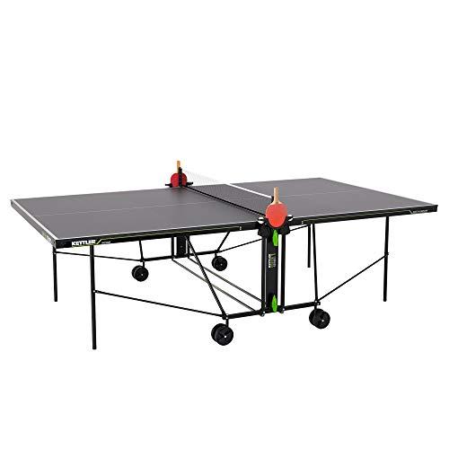 KETTLER K1, Indoor Tischtennisplatte, Turniermaße, solide 16mm Holzplatte, 5-Fach direktlackiert, klappbar, TÜV geprüft, DIN EN 14468