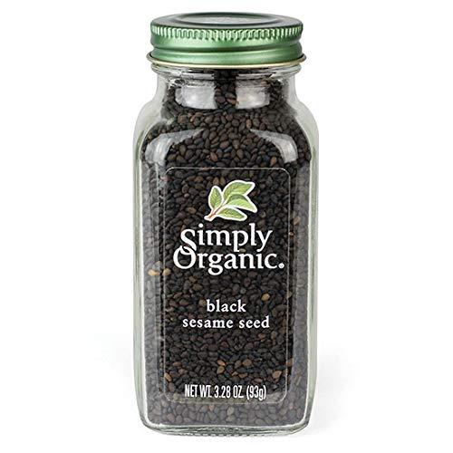 Simply Organic Certified Black Whole Sesame Seed, 3.28 oz