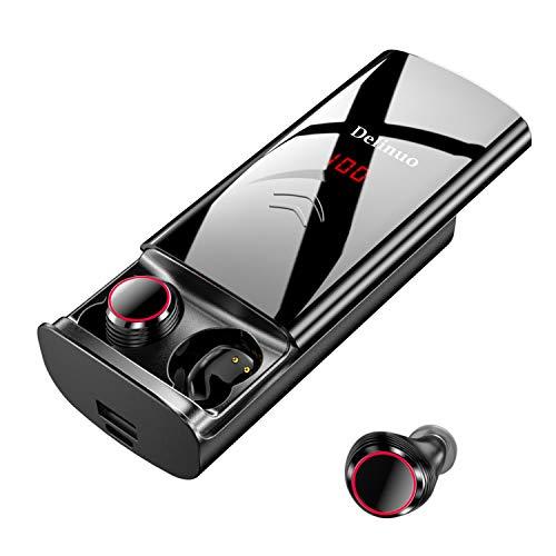Écouteurs Bluetooth Delinuo 2019 - sans Fil - avec Batterie de 6000 mAh - IPX6 - Écran numérique