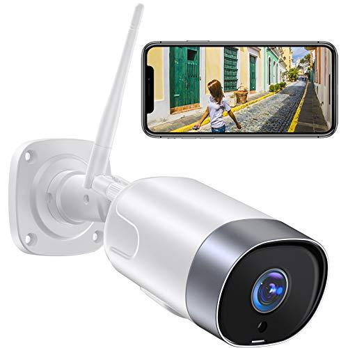 Supereye 1080P Telecamera Wifi Esterno,Telecamera IP di Sorveglianza con Rilevazione Movimento,IP66 Visione Notturna Impermeabile,Audio Bidirezionale,Compatibile con IOS/Android,compatibile con Alexa