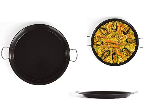 PaellaWorld | Padella per paella a induzione, 46 cm, in acciaio al carbonio, con rivestimento antiaderente