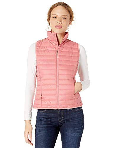 Jack Wolfskin Women's Pack and Go Vest Women's Lightweight Recycled Windproof Puffer Vest, Rose Q…