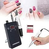 Taladro de uñas eléctrico recargable de 30000 RPM, uso doméstico, salón de uñas, pulidora eléctrica portátil, pulidora de uñas para tallar, pulir y pulir(YO)