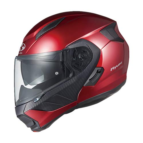 オージーケーカブト(OGK KABUTO)バイクヘルメット システム RYUKI シャイニーレッド (サイズ:M)