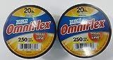 Zebco 12 Lb Test Omniflex Monofilament High Strength Fishing Line 700 Yards 2 Pack!