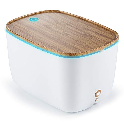 YHW 1900 mL Large Essential Oil Diffuser Humidifier, 36 Hours Max Aromatherapy Diffuser with Colorful Light, BPA Free Cool Mist Humidifier, Auto Shut-Off, Office, Home, Baby Room, Light Wood Color