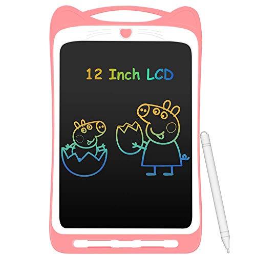 AGPTEK Tavoletta Grafica LCD Scrittura 12 Pollici Colorato, con Pulsante di Blocco, Lavagna da...