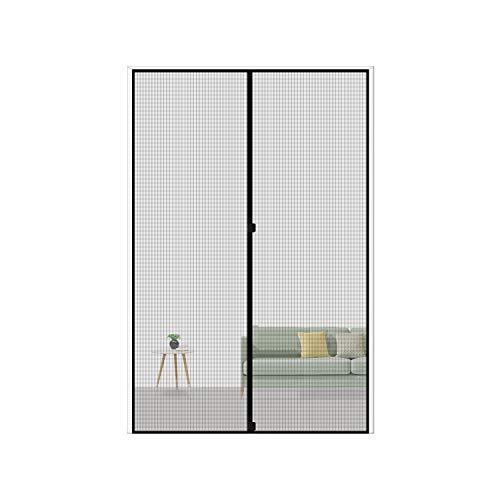 MAGZO Magnetic Screen Door Fit Door Size 36 x 78, Reinforced Fiberglass Mesh Curtain Back Door Mesh with Full Frame Hook&Loop-Grey
