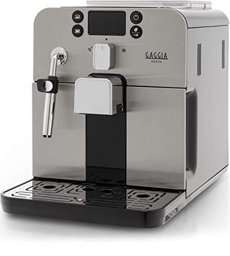 Gaggia Brera Black Macchina da Caffè Automatica, per Espresso e Cappuccino, Caffè in Grani o...