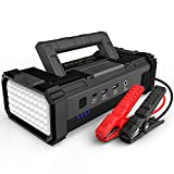A V A P O W 6000A 32000mAh Car Battery Jump Starter(for All Gas or Upto 12L Diesel) Powerful Car Jump Starter with Dual USB Quick Charge and DC Output,12V Jump Pack with Built-in LED Bright Light