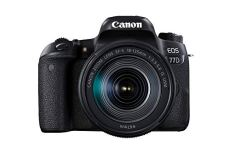 Canon EOS 77D + EF-S 18-135mm 3.5-5.6 IS USM Juego de cámara SLR 24.2MP CMOS 6000 x 4000Pixeles Negro - Cámara digital (24,2 MP, 6000 x 4000 Pixeles, CMOS, Full HD, Pantalla táctil, Negro)
