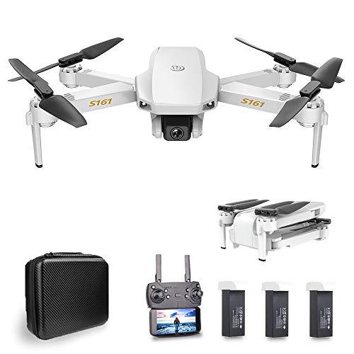 Goolsky S161 Mini PRO Combo Drone Leggero e Portatile, Fotocamera 4K, Posizionamento del Flusso Ottico, Doppia Fotocamera Altitudine Hold Gesto Foto Video 3D Filp Track Flight RC Quadcopter