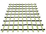 Fong 8 ft X 8 ft Climbing Cargo Net Black & Green- Playground Cargo Net - Outdoor Climbing Net for Kids - Climbing Net for Swingset