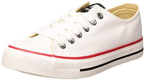 MTNG Attitude 13991, Zapatillas Mujer, Blanco (Canvas 3 Blanco C11753), 37 EU