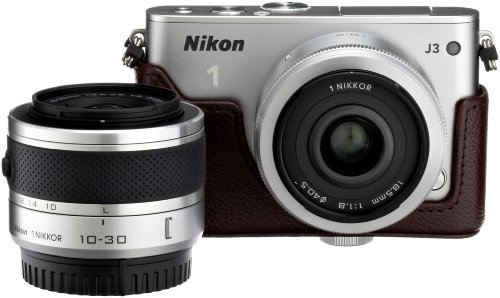 【Amazon.co.jp限定】Nikon1 J3 HLK+18.5mm/2.8ダブルレンズセットA シルバー N1J3+18.5/2.8SLWLKA