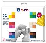 Staedtler FIMO Soft, Assortiment de 24 demi-pains de pâte FIMO aux...