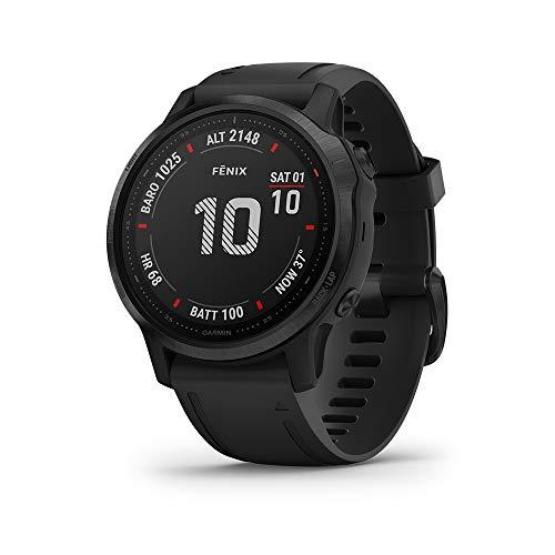 Garmin Fenix 6S Pro - Reloj inteligente con GPS para outdoor, color negro con correa negra