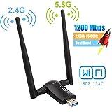 Flybiz Clé WiFi Dongle 1200Mpbs USB WiFi Adaptateur USB 3.0, Adaptateur WiFi...