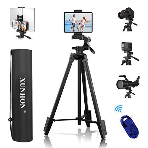 Trépied Smartphone 41-137 cm + Support de Tablette 13,2 cm, trépied en...