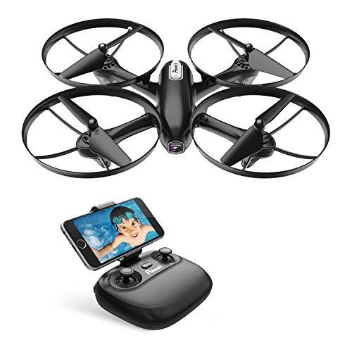 Potensic Drone con Telecamera HD FPV RC Quadricottero WiFi Professionale con Fotocamera modalità Senza Testa Tenere Altitudine con Batteria Rimovibile
