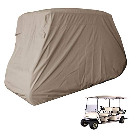 Deluxe 6 Seater Golf Cart Cover (Grey or Taupe), Fits E Z...