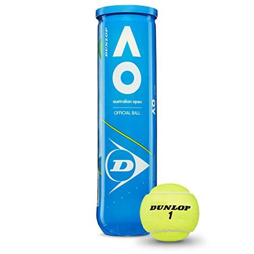 Dunlop - Palline da tennis Australian Open per tutte le et, taglia unica, colore: Giallo