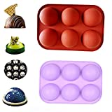 DHQH 2 Pcs Semi Sphere Cake Mold,Baking Mold for Making Chocolate CAKE, Cake Molds for Cake Baking(1203)…