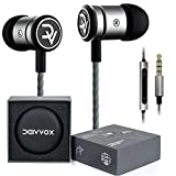 DEIVVOX D0419 Earbuds Wired with Microphone and Volume Control Mic - in Ear Headphones Extra Bass Earphones Noise Isolating - Earbud for Ipad iPod Cell Phones Samsung Sony LG - Jack 3.5mm