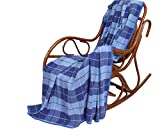 100% Pure Flax Linen Blanket (Blue)