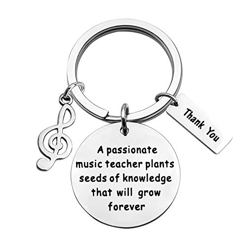ENSIANTH Music Teacher Keychain Music Teacher Retirement...