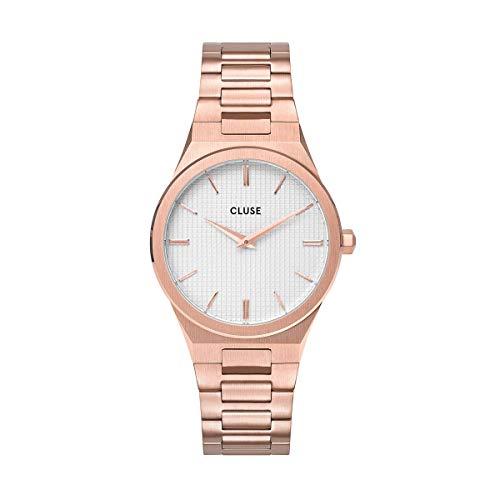 Cluse Damen Analog Quarz Uhr mit Edelstahl Armband CW0101210001