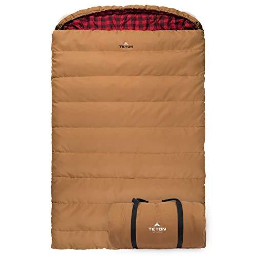TETON Sports Mammoth -7C Queen-Size Double Canvas Sleeping Bag