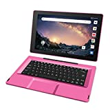 RCA 11.5' Galileo Pro (2-in-1) Laptop Tablet with Detachable Keyboard - 32GB | Android 8.1 (Go Edition) - (RCT6513W87DK5E) (Pink)