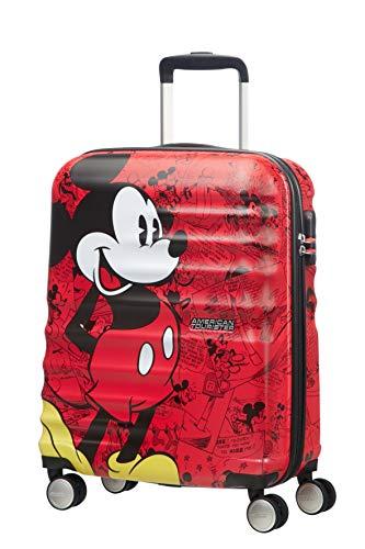 American Tourister Wavebreaker Bagaglio a Mano Disney, Spinner S (55 cm - 36 L), Rosso (Mickey...