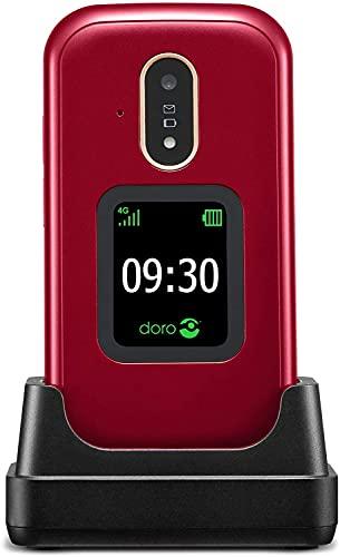 Doro 7080 Teléfono Móvil 4G Dual SIM con Tapa para Mayores con...