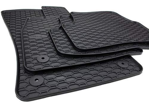 kfzpremiumteile24 Gummimatten Premium Qualität Fußmatten Gummi schwarz...