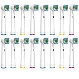 SOFTMATE Aufsteckbürsten für Oral B elektrische Zahnbürsten, 16er Pack Aufsätze