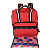 LeSportsac Madison Diaper Bag Backpack Fiery Red One Size