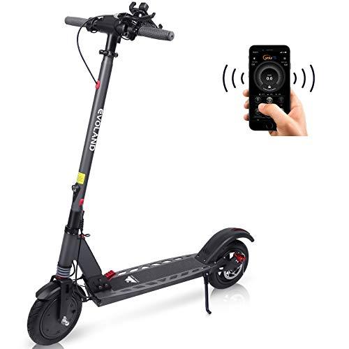 EVOLAND Trottinette Electrique, Moteur 350W | Vitesse Max 25km/h | Batterie 36V 8Ah | Scooter Urbain Pliable & Portable pour Adultes