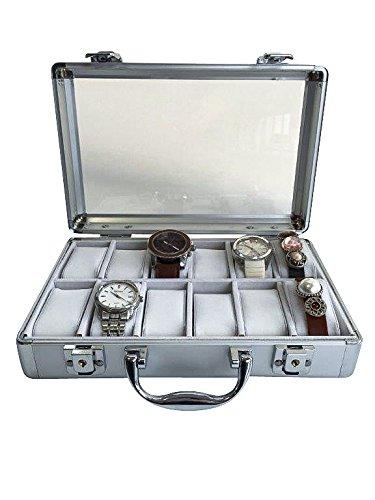 Uhrenkoffer aus Aluminium für 12 Uhren