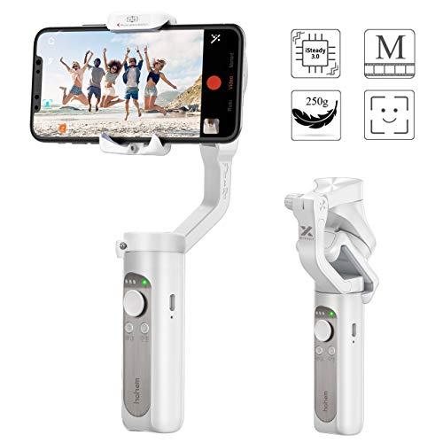 Gimbal Smartphone – Hohem 3 Assi Stabilizzatore Smartphone Portatile con 5 Modalità per Vlog/Youtuber, iPhone Stabilizzatore Caricamento 280g per Iphone 11/Xs Max/Xr/Samsung Galaxy/Huaiwei/Xiaomi etc