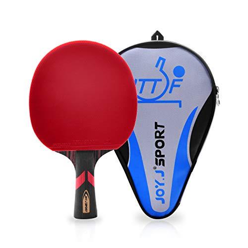 JOYJ Sport Professioneller Tischtennisschläger/Tischtennis-Schläger, Ideal für Zwischenspieler und Fortgeschrittene Spieler (Anfänger-Zwischenspieler)