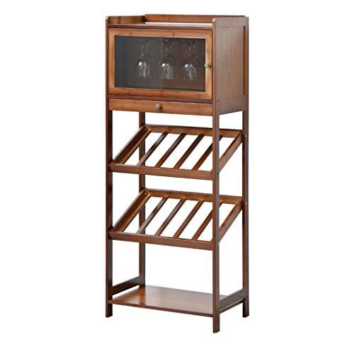 Porta bottiglie da vino Armadietto del vino Holder bagagli stand ripiani Capacit stoccaggio di...