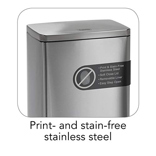 Product Image 3: Tramontina 13 Gallon Step Trash Can Stainless Steel Includes 2 Freshener Cartridges …