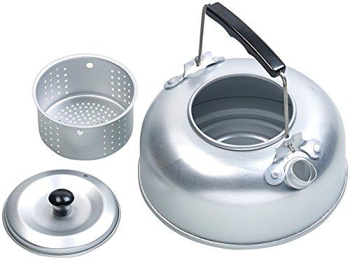 Semptec Urban Survival Technology Camping Wasserkocher: Camping-Kessel aus Aluminium mit Tee-Sieb und isoliertem Griff, 0,75 l (Kochkessel)
